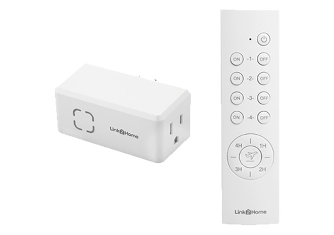 Remote controled outlet with countdown timer and random function